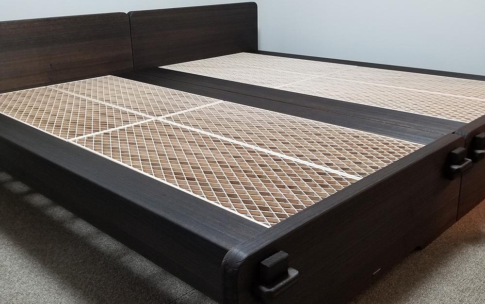 組子を床材とした総桐ベッド